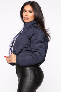 Any Way You Like It Puffer Jacket - Navy