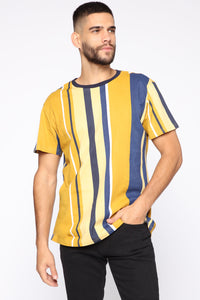 Leonard Short Sleeve Tee - Yellow/combo