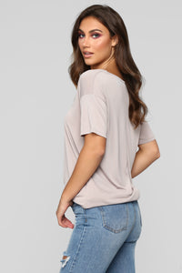Casual Sundays Tunic Top - Mauve