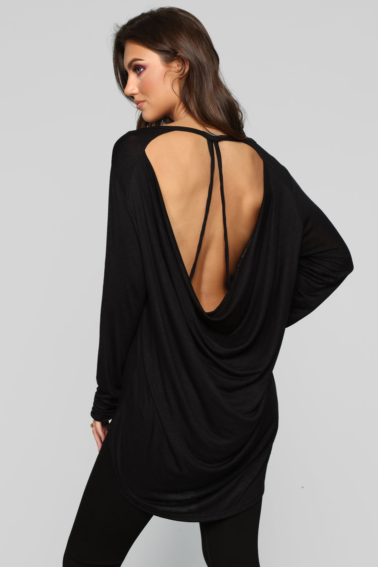 Fly Away With Me Top - Black
