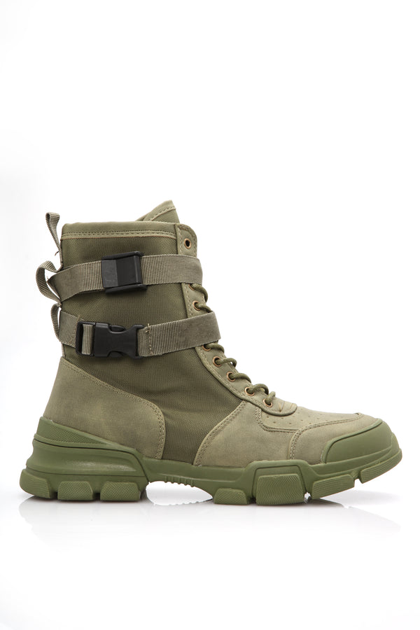 09e88c467ab Handle Your Business Bootie - Olive
