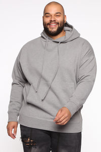 Dom Side Zip Hoodie - Heather Grey Angle 6