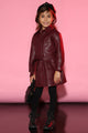 Mini Going Out Faux Leather Jacket - Burgundy