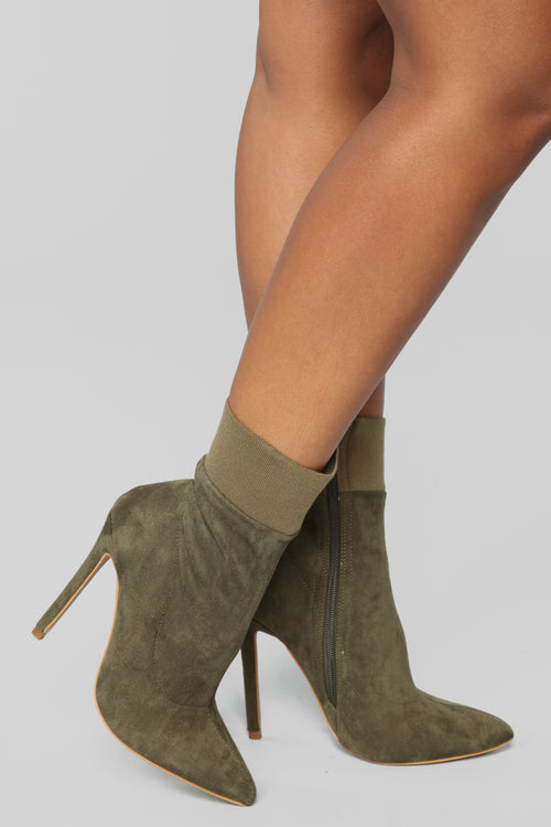 Oh Honey Booties - Olive