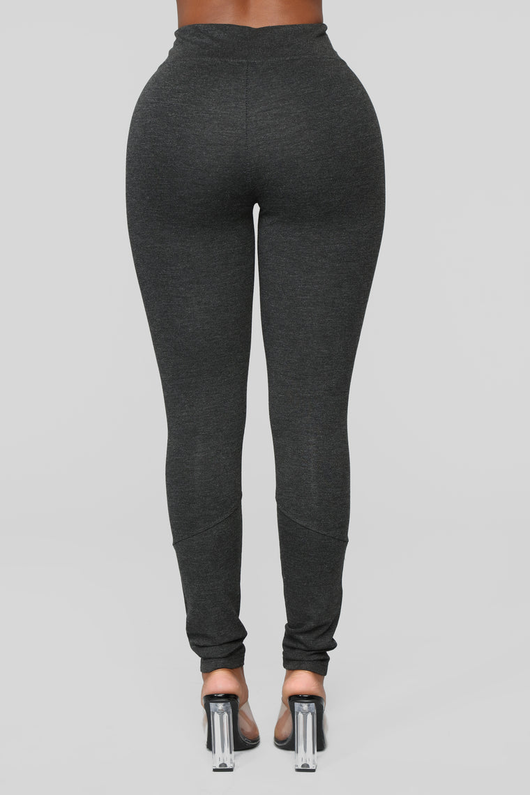 Down To Ride Ponte Pants - Grey