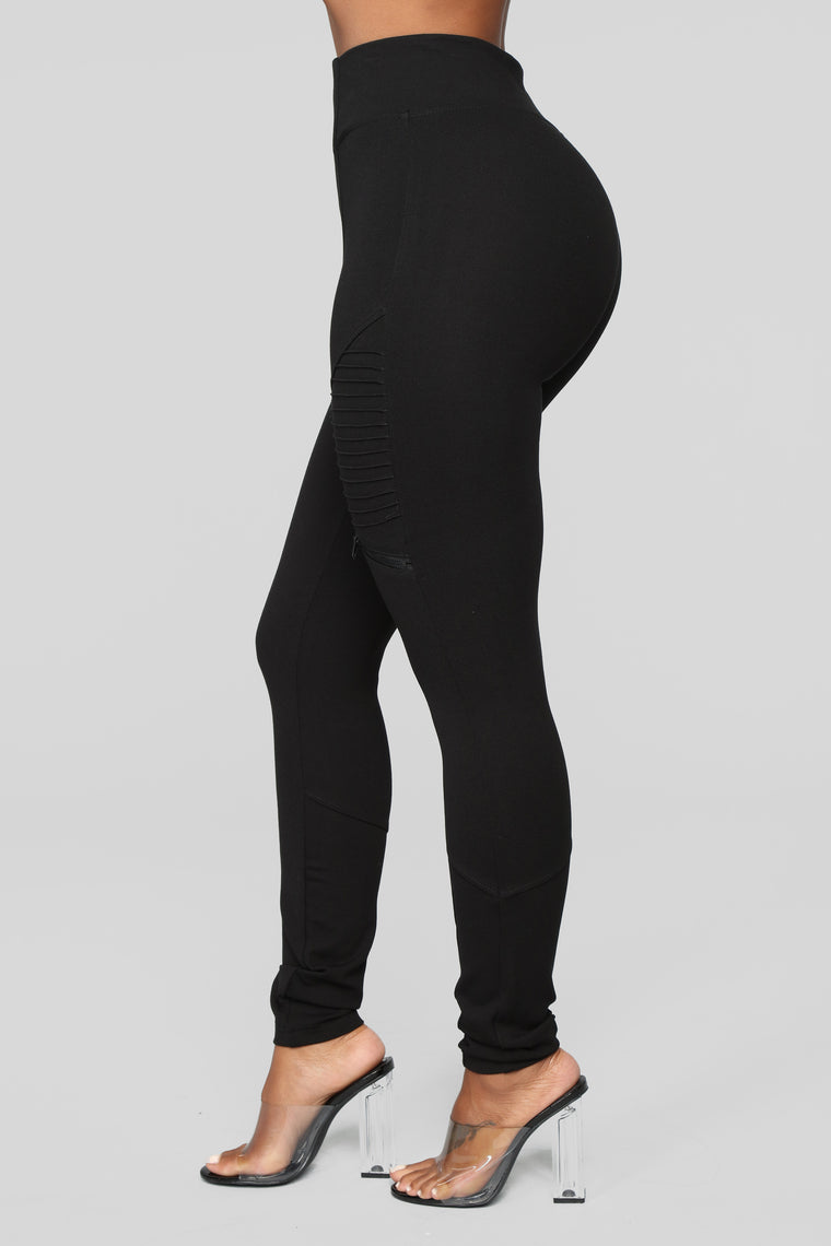 Down To Ride Ponte Pants - Black