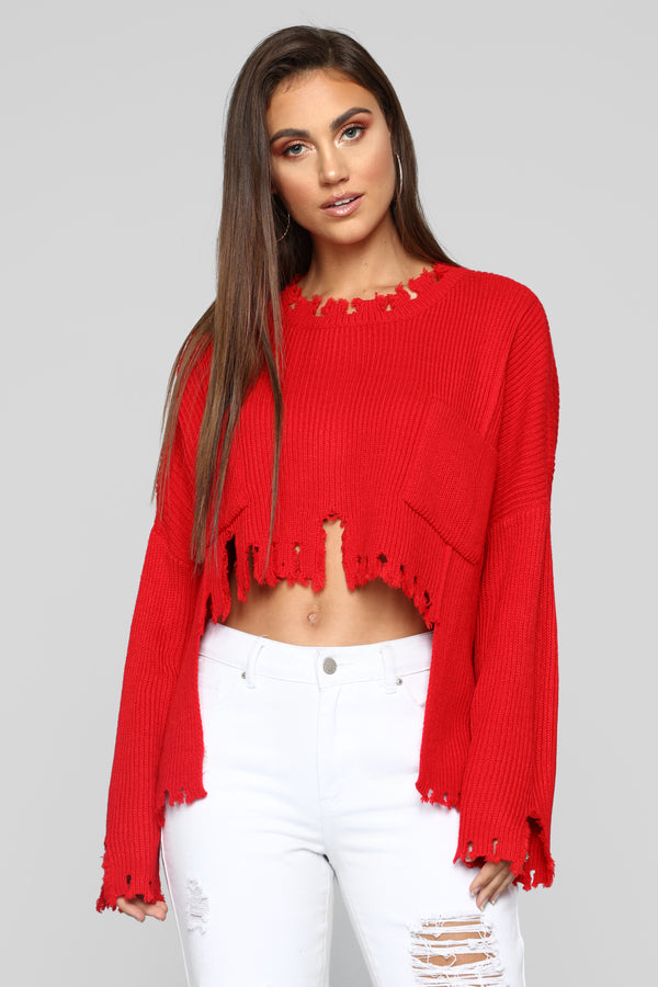 2a73b47588a Not My Day Sweater - Red