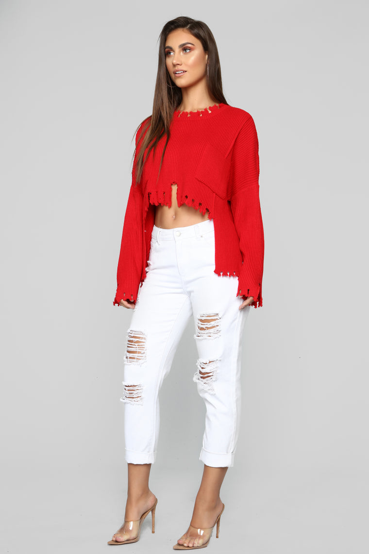 Not My Day Sweater - Red
