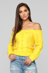 Count On Me Sweater - Yellow