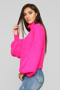 Mocking Bird Sweater - Neon Pink