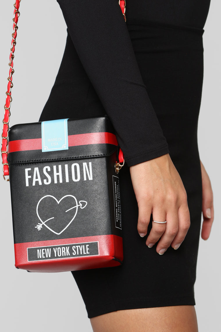 Fashion Darling Crossbody Bag - Black/Red