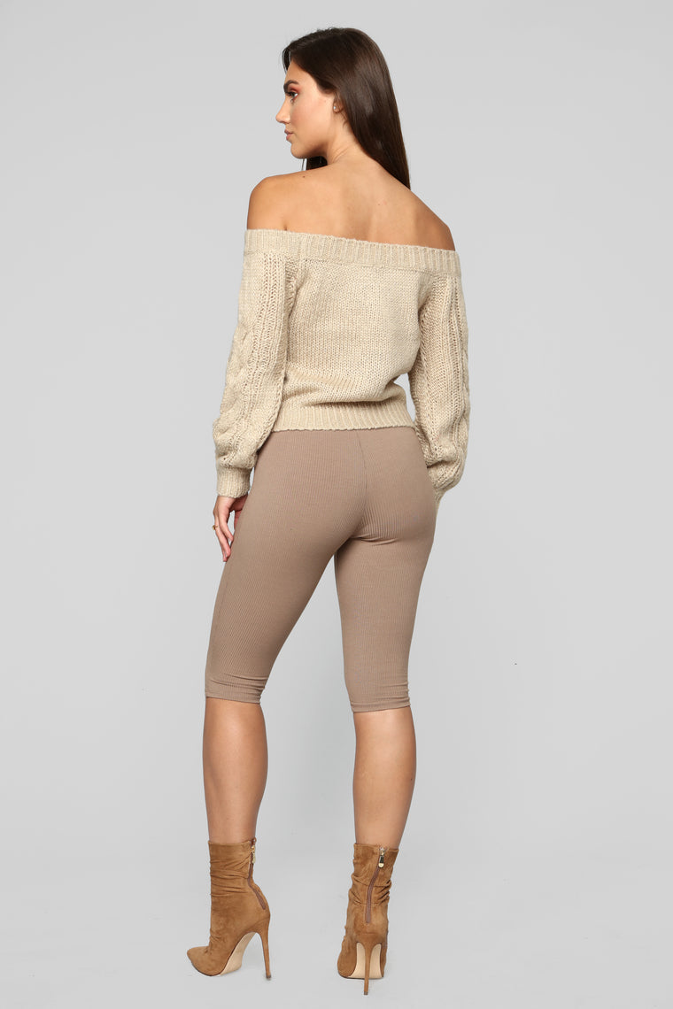 Count On Me Sweater - Taupe