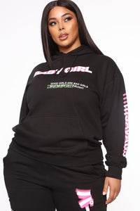 Foreign Babe Hoodie - Black Angle 9