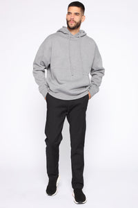 Dom Side Zip Hoodie - Heather Grey Angle 3