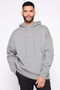 Dom Side Zip Hoodie - Heather Grey Angle 1