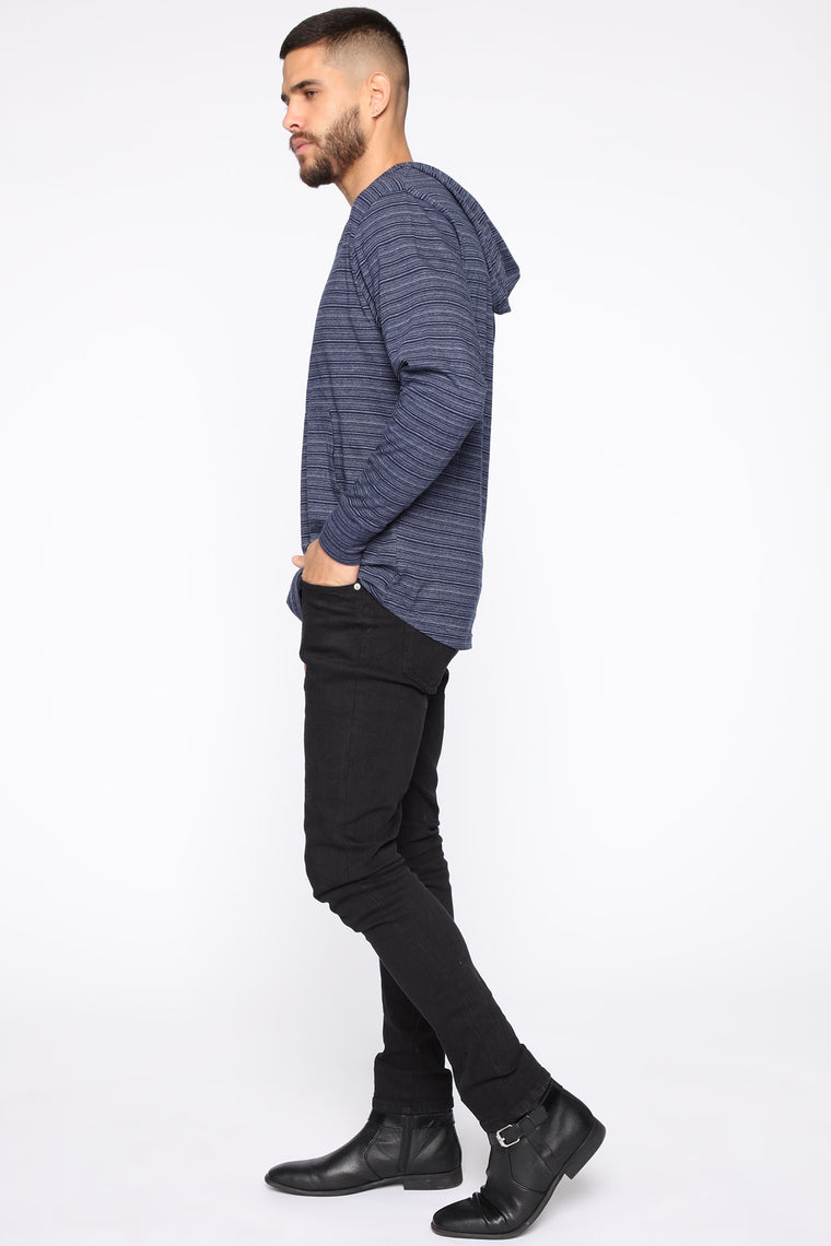 Night In Hoodie - Navy
