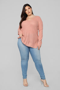 Georgina Caged Back Sweater - Mauve Angle 8