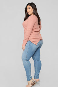 Georgina Caged Back Sweater - Mauve Angle 10