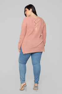Georgina Caged Back Sweater - Mauve Angle 11
