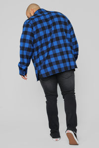 Kane's Long Sleeve Flannel Top - Black/Blue