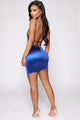 Flirtini Satin Mini Dress - Royal