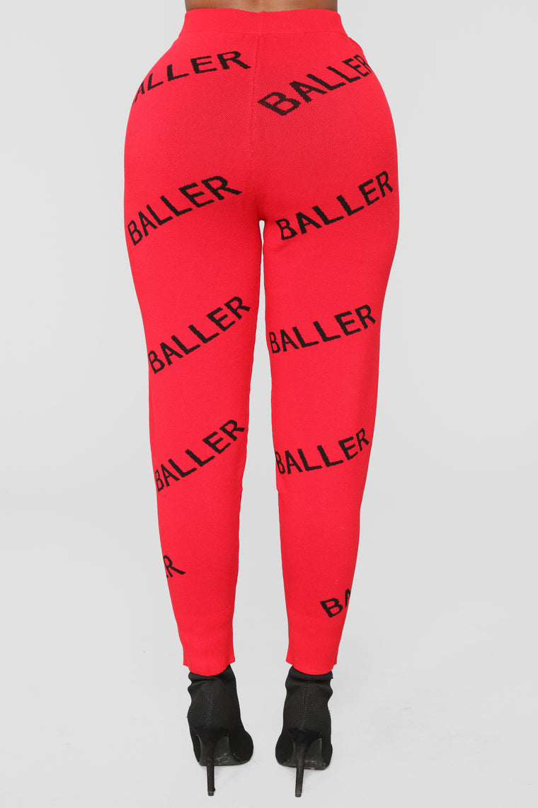 Baller Sweater Set - Red