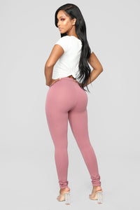 Unrivaled And On Top Ponte Pants - Rose Angle 5