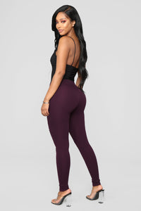 Jossie Stretch Moto Pants - Plum Angle 3