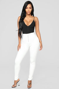 Unrivaled And On Top Ponte Pants - Ivory Angle 2