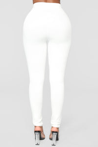 Unrivaled And On Top Ponte Pants - Ivory Angle 6