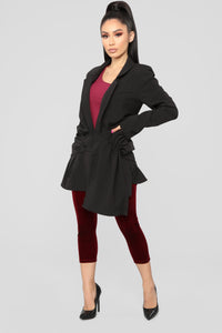 Miss Monae Blazer - Black