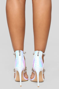 Wow Me Heeled Sandal - Silver
