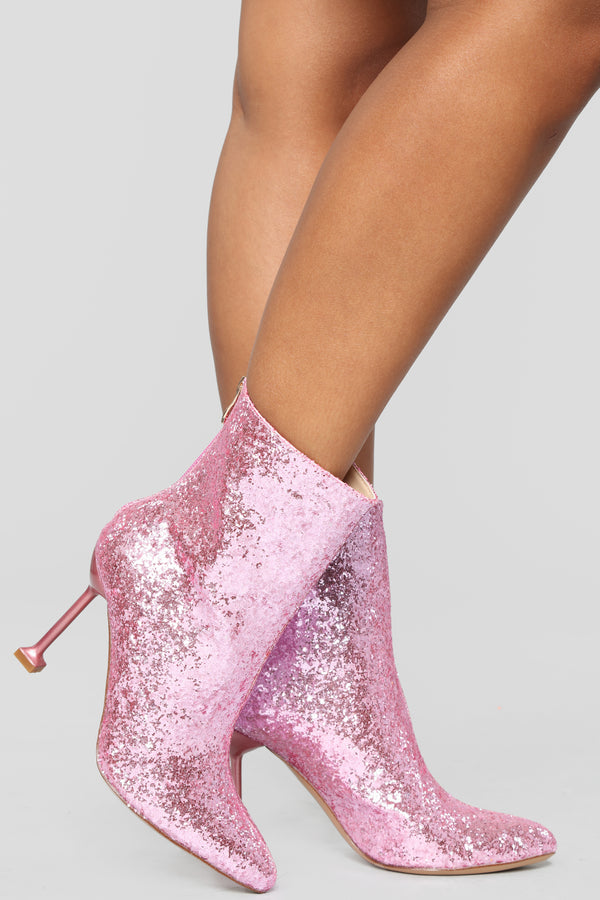fc898ce0e47a Watch Me Shine Bootie - Pink