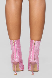 Watch Me Shine Bootie - Pink