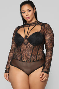 Come Over My Way Bodysuit - Black Angle 7