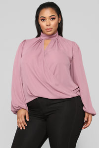 Twisted Kind Of Love Top - Dark Rose