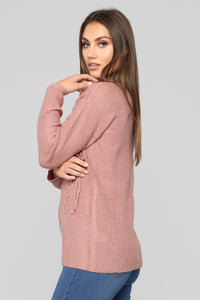 Ready Or Not Sweater - Mauve