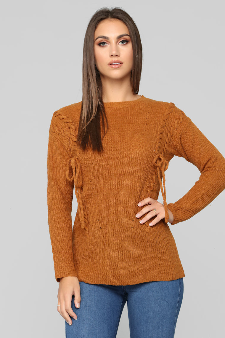 Ready Or Not Sweater - Cognac