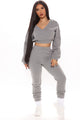 Turning Heads And Hearts Jogger Set - Heather Grey