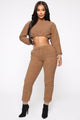Lounge With Me Teddy Set - Mocha
