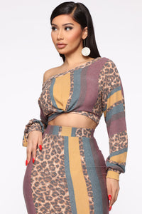 In The Mix Maxi Skirt Set - Multi