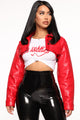 Keep My Heart Jacket - Red