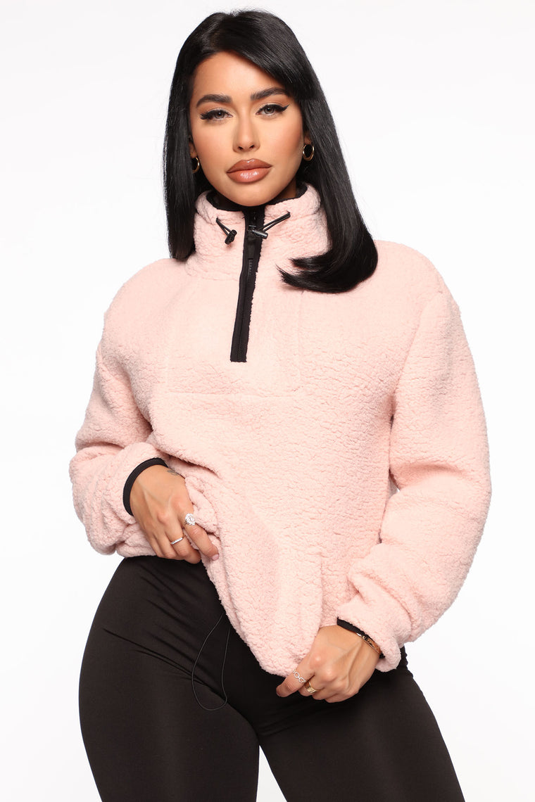 Cozy Feels Sherpa Pullover   Pink by Fashion Nova