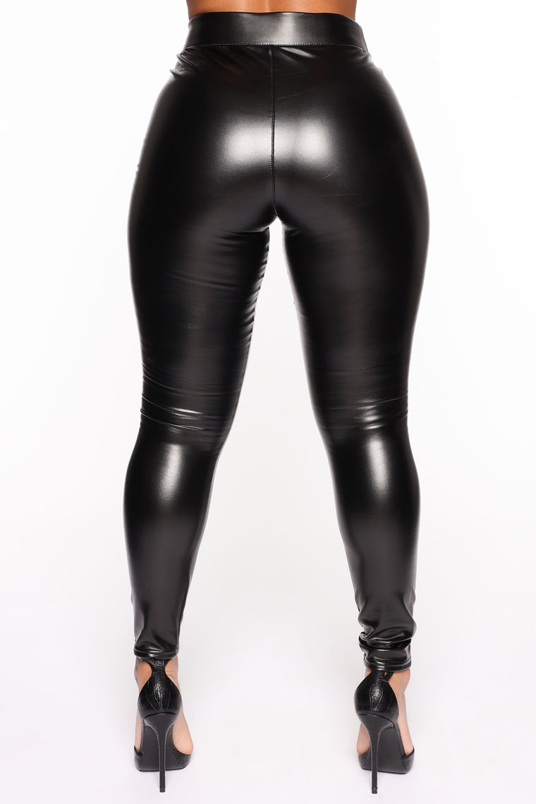 Legs For Days Faux Leather Leggings - Black