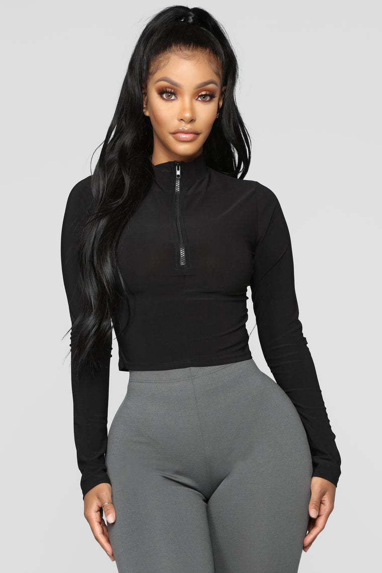 She Looks Like Fun Top   Black by Fashion Nova