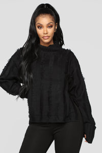 Fringe Feelings Sweater - Black