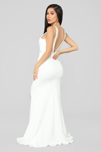 A Magical Feeling Mermaid Gown - White