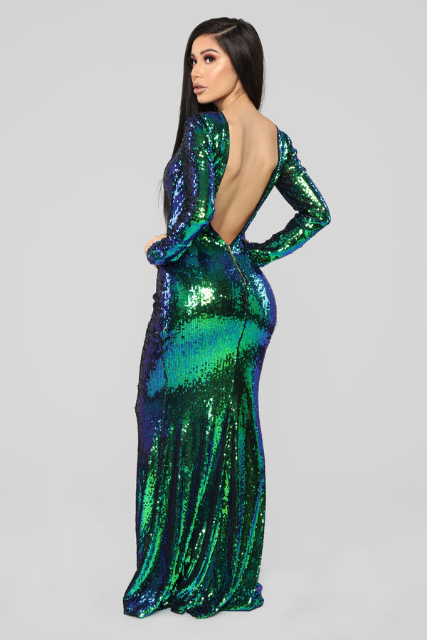 0ada2b9ba Date With The Night Sequin Dress - Green