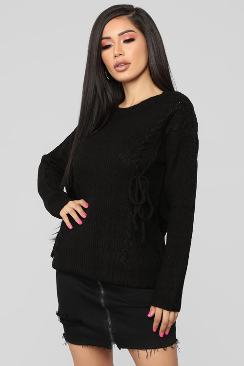 Ready Or Not Sweater - Black