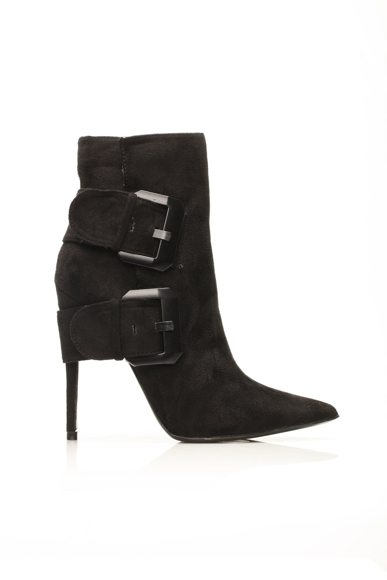 Perfectly Imperfect Heeled Boot - Black